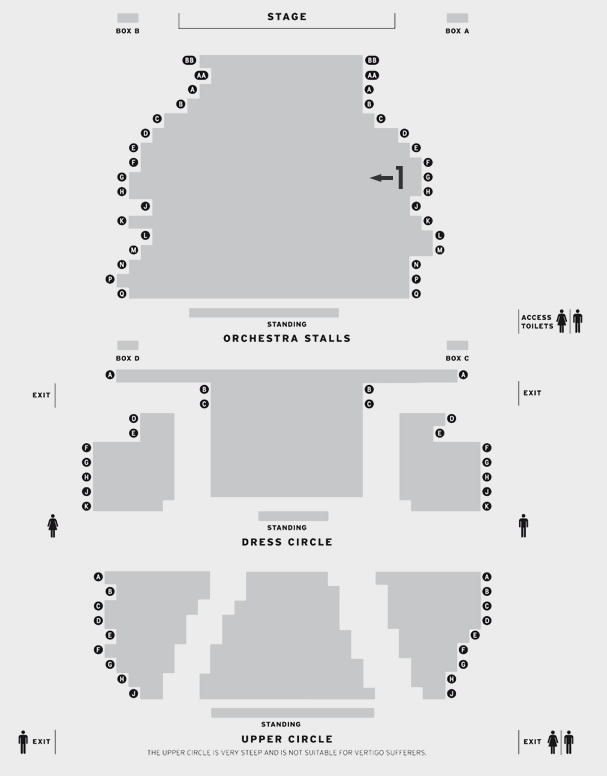 Playhouse Theatre Spamalot seating plan