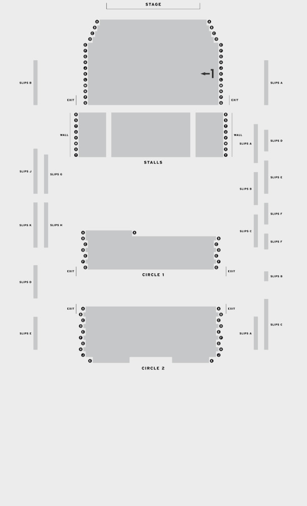 Aylesbury Waterside Theatre Blue/Orange seating plan