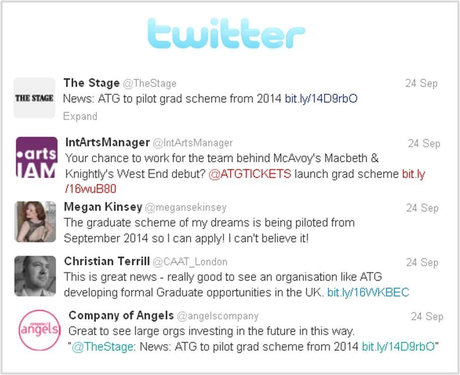 Twitter Talks ATG Grad Scheme
