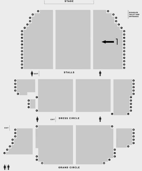 New Alexandra Theatre Birmingham After Hours seating plan