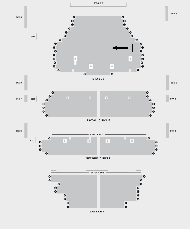 Theatre Royal Brighton Breakfast at Tiffany's seating plan