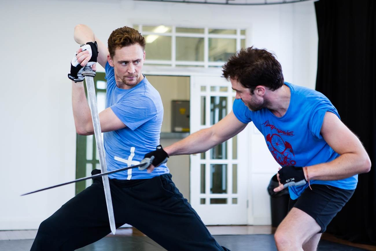 Tom Hiddleston in rehearsals for Coriolanus at the Donmar Warehouse