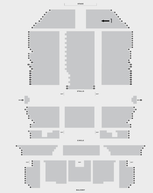 Edinburgh Playhouse Midge Ure, The Christians, Altered Images seating plan