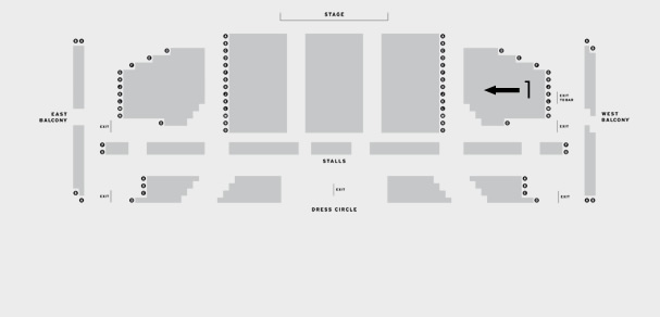 Leas Cliff Hall Theatre Whitney - Queen of the Night seating plan