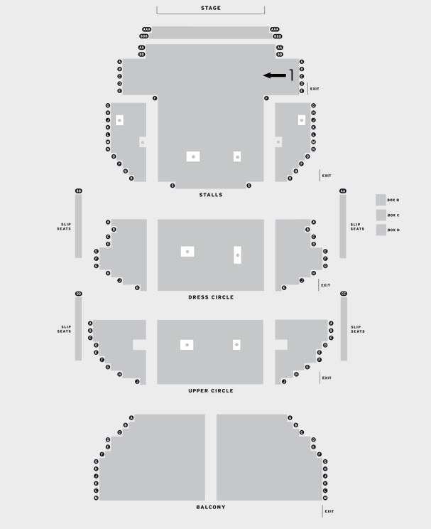 Theatre Royal Glasgow Scottish Ballet's A Streetcar Named Desire seating plan