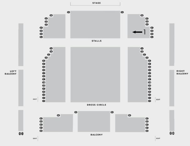 Grimsby Auditorium Vagina Monologues seating plan