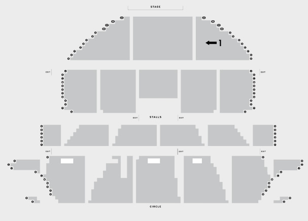 Liverpool Empire Theatre Ellen Kent's Rigoletto seating plan