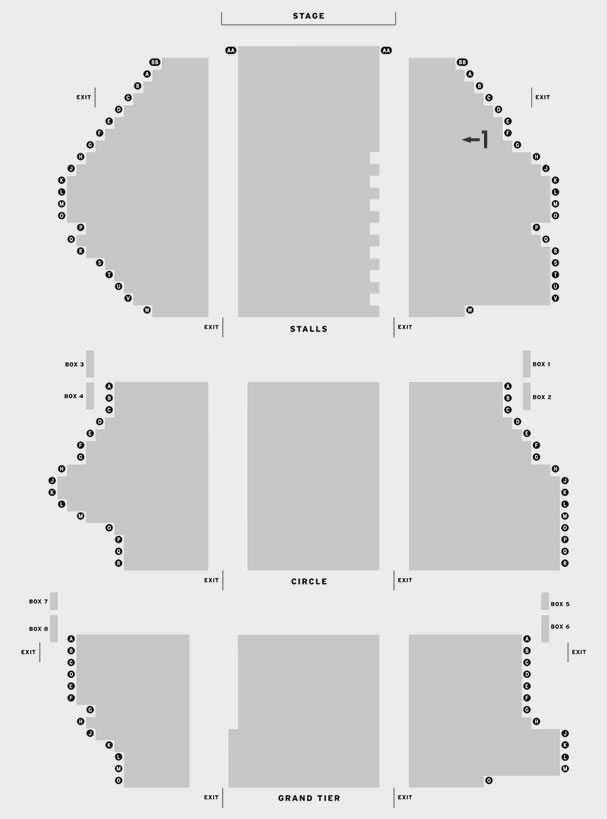 Palace Theatre Manchester Rock of Ages seating plan