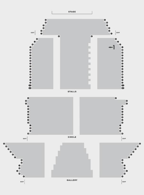 Opera House Manchester Blue/Orange seating plan
