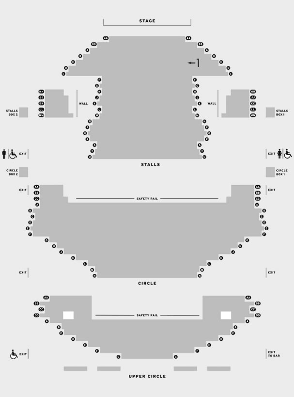 Milton Keynes Theatre An Evening of Burlesque - old seating plan