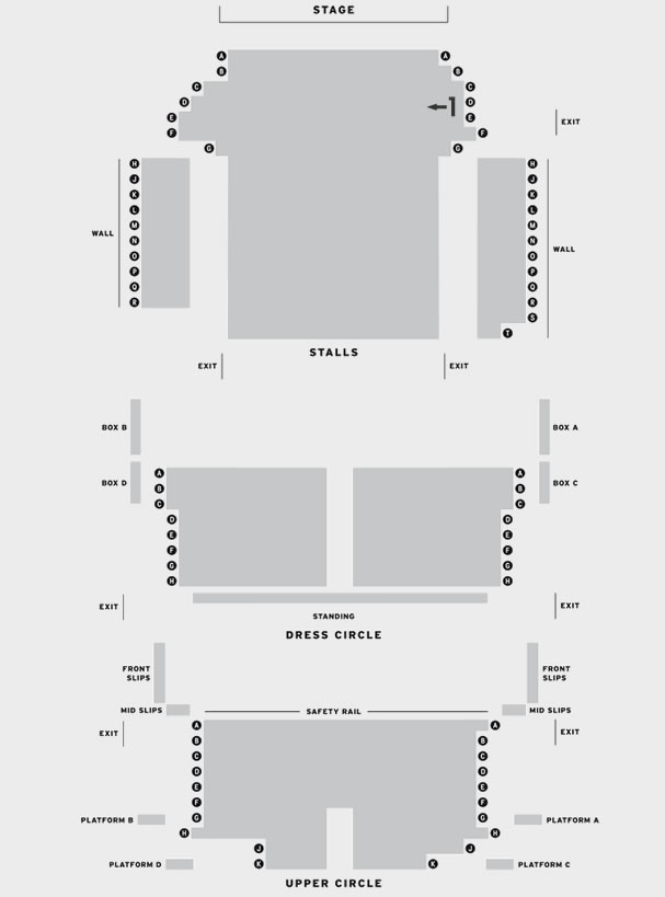 Richmond Theatre Blue/Orange seating plan