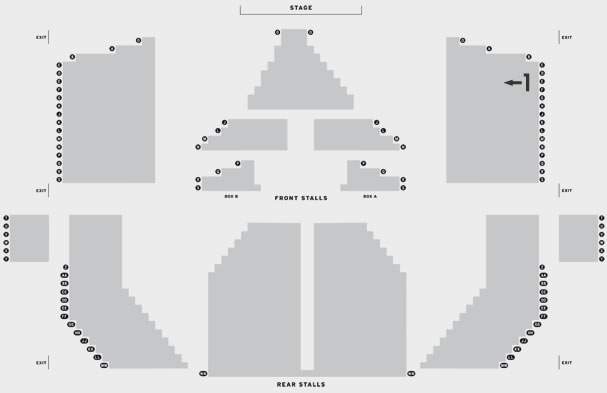 Southport Theatre & Convention Centre T.Rextasy seating plan
