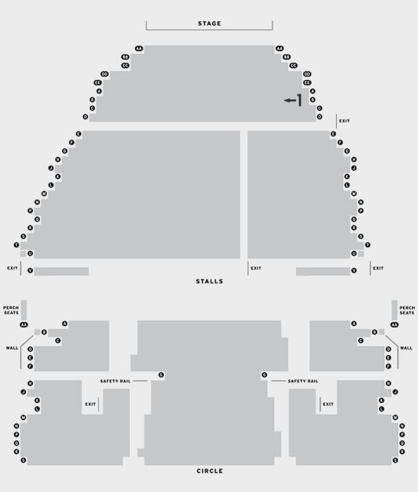 Regent Theatre, Stoke Regent Academy of Performing Arts  - Autumn Term 2017 seating plan