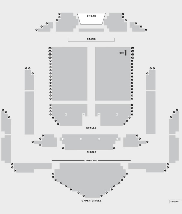 Victoria Hall Whitney - Queen of the Night seating plan