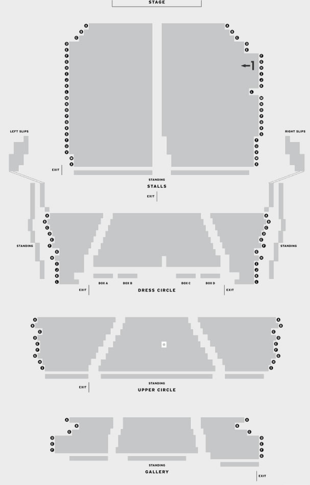 Sunderland Empire Ross Noble - Brain Dump seating plan