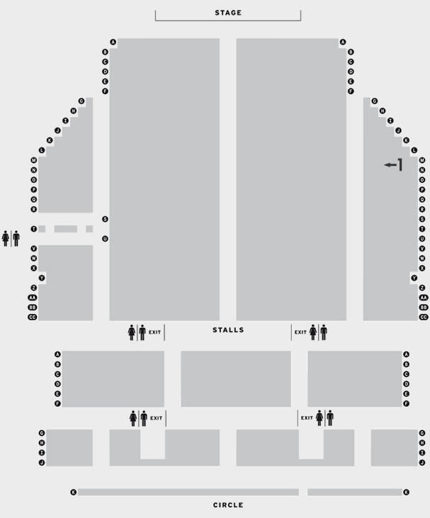 Princess Theatre Torquay Jethro seating plan