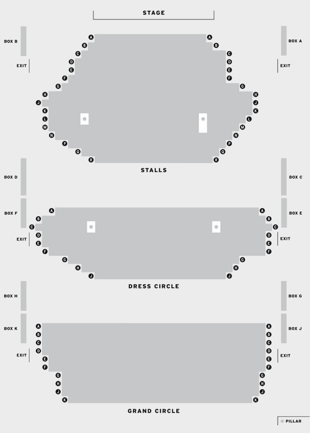 Grand Opera House York Vienna Festival Ballet - Swan Lake seating plan