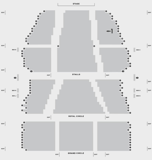Lyceum Theatre The Lion King London seating plan