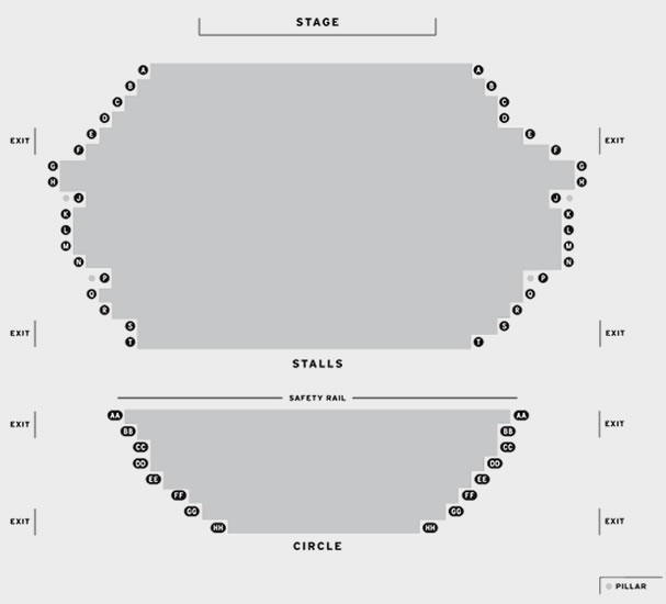 The Churchill Theatre Bromley Comedy Club seating plan