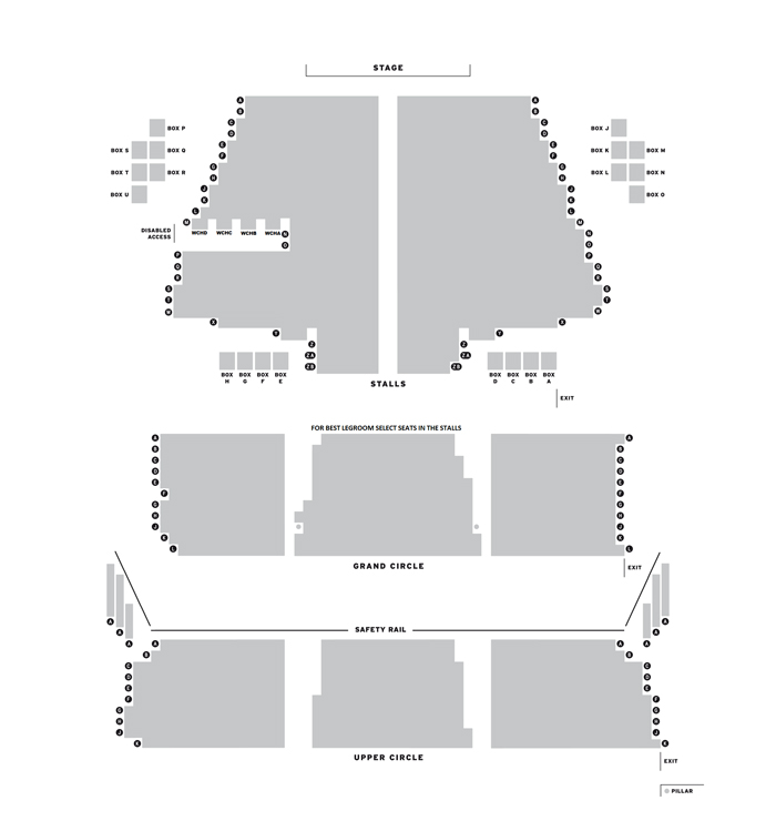 Bristol Hippodrome Theatre Priscilla Queen of the Desert - Tour seating plan