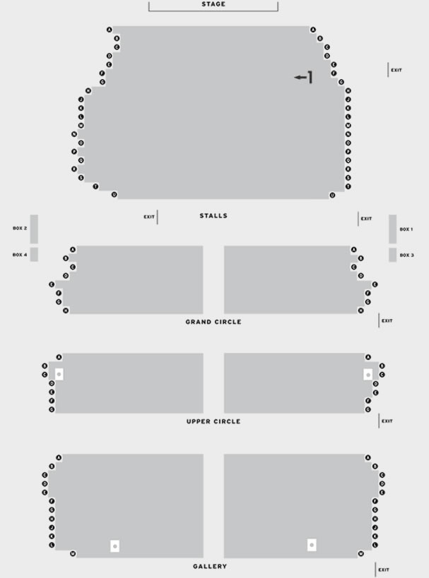 King's Theatre Glasgow Evita Touch Tour 2018 seating plan