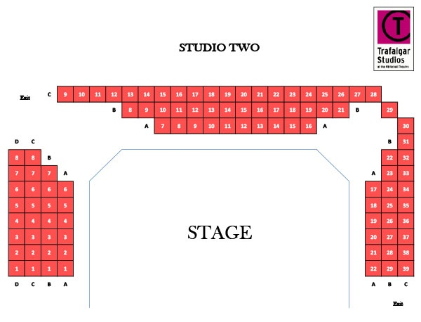 Trafalgar Studios Speech and Debate seating plan