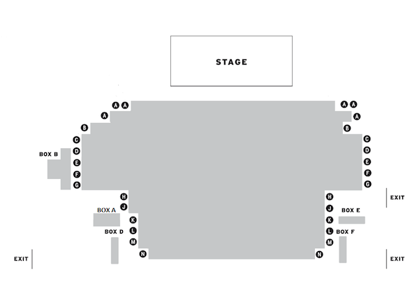 Trafalgar Studios Out There on Fried Meat Ridge Rd. seating plan