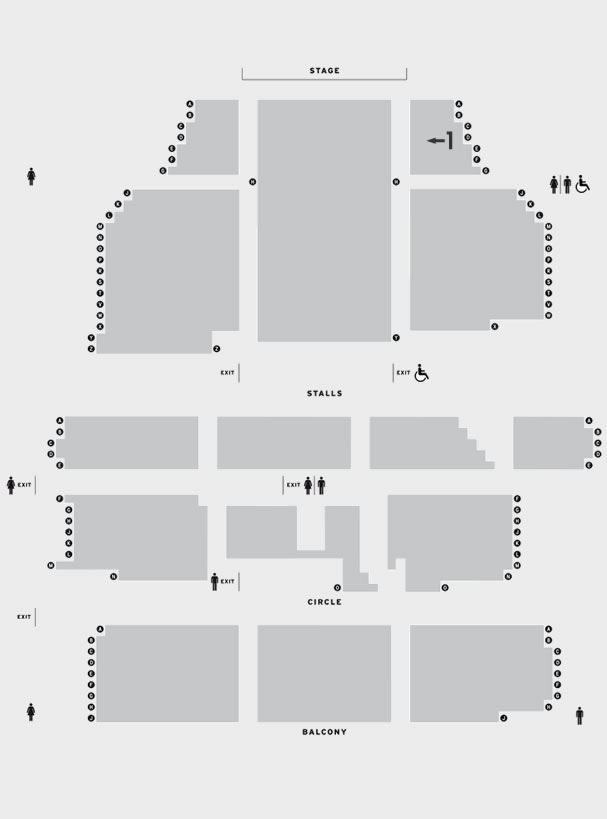New Theatre Oxford Whitney - Queen of the Night seating plan