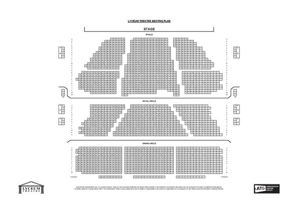 Lyceum Theatre Malcolm Gladwell Live: The David and Goliath Tour seating plan