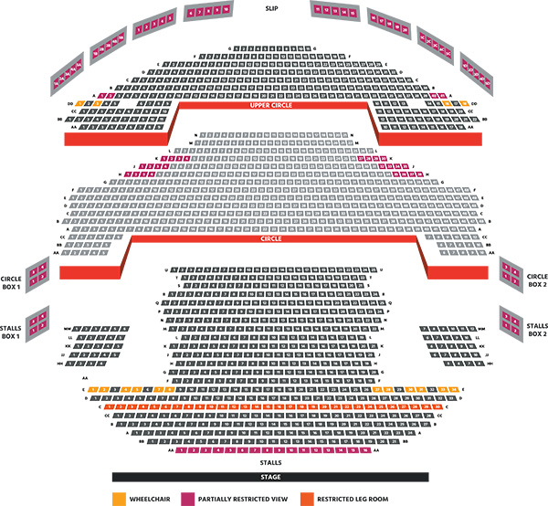 Milton Keynes Theatre Robin Hood seating plan