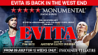 EVITA RETURNS TO THE WEST END FOR A STRICTLY LIMITED SEASON