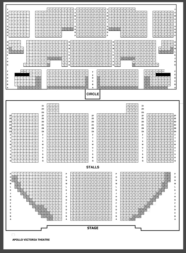 Apollo Victoria Theatre - Seating Plan at Apollo Victoria Theatre ...