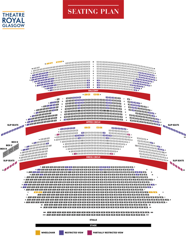 Theatre Royal Glasgow Scottish Opera: Eugene Onegin seating plan