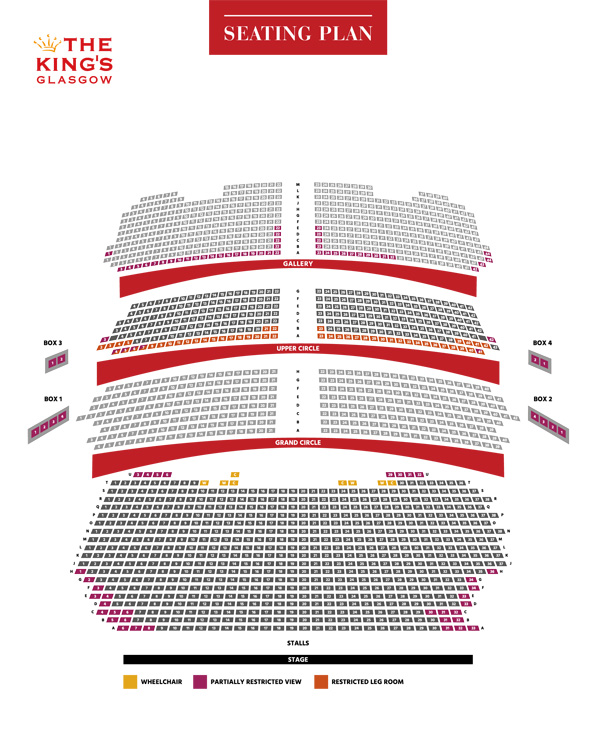 King's Theatre Glasgow Rock of Ages seating plan