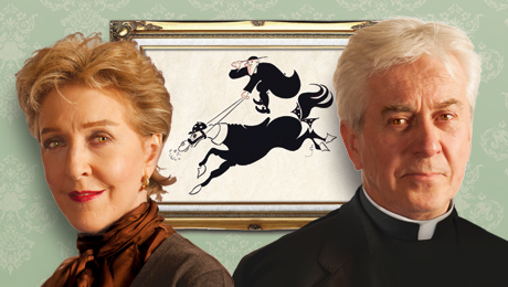 Patricia Hodge and Nicholas Le Prevost star in Dandy Dick at the New Victoria Theatre this July