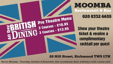 Moomba are proud to be Corporate Partners with Richmond Theatre