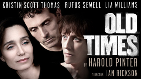 Old Times actor to premier film at the Harold Pinter Theatre