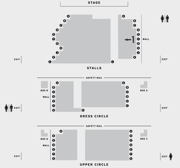 Fortune Theatre The Woman in Black seating plan