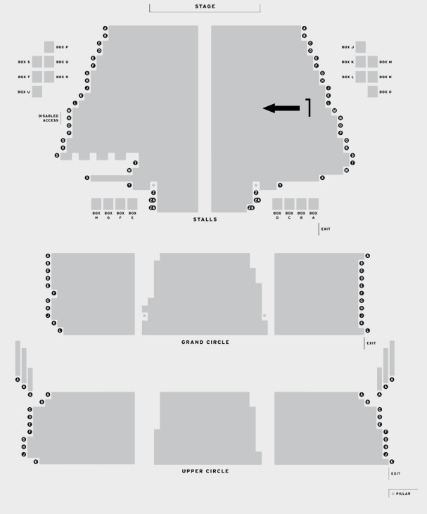 Bristol Hippodrome Welsh National Opera's Cosi fan tutte seating plan