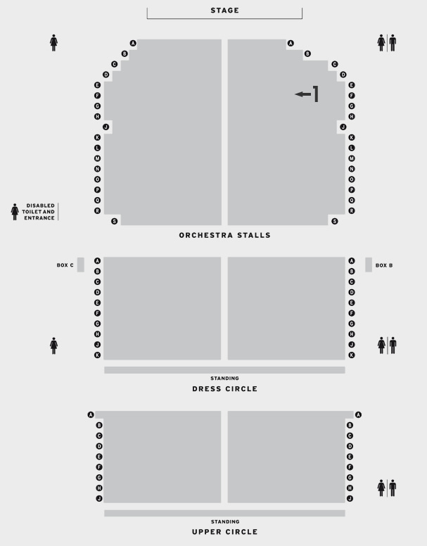 Phoenix Theatre Bend It Like Beckham seating plan