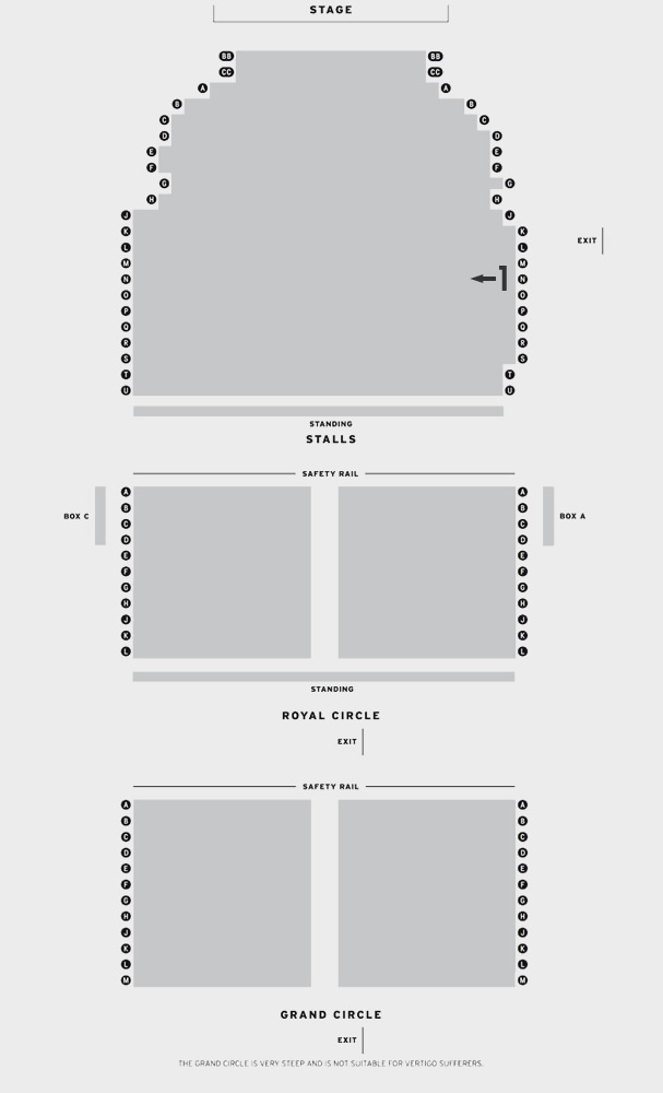 Piccadilly Theatre Viva Forever! seating plan