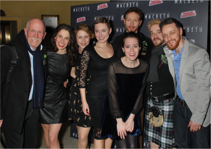 The cast of Macbeth at Trafalgar Studios