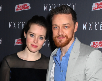 Claire Foy and James McAvoy