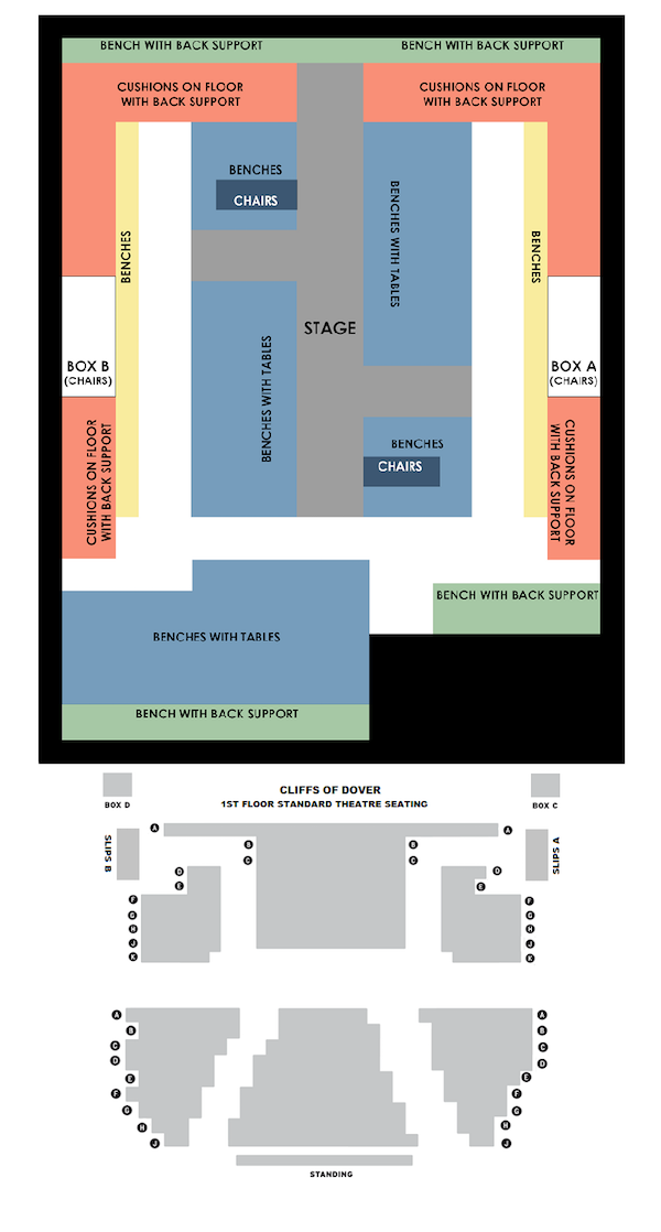 Playhouse Theatre The Jungle seating plan